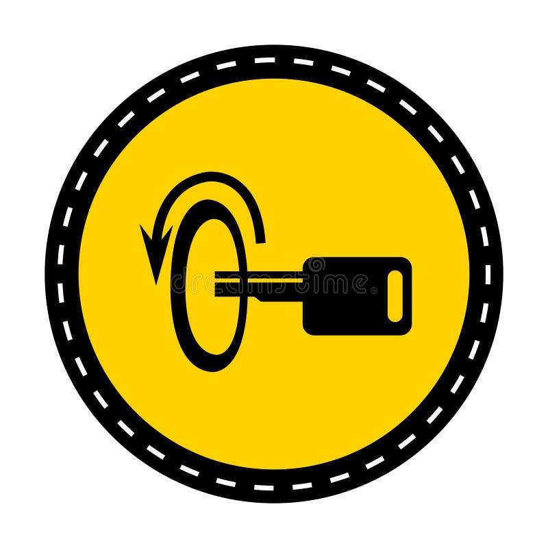 切断引擎标志在白色背景,传染媒介例证的标志孤立 库存例证