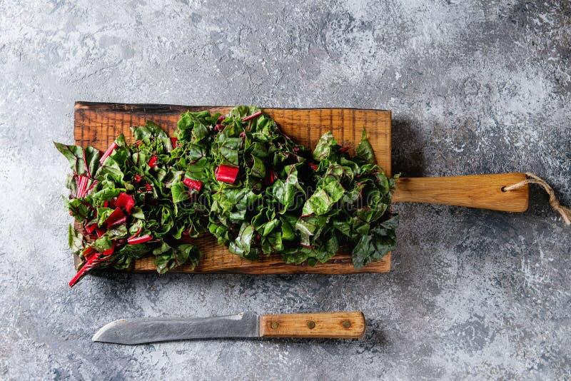 切新鲜的唐莴苣沙拉 免版税库存照片