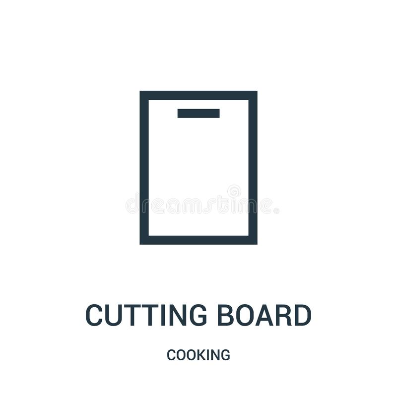 切板从烹调汇集的象传染媒介 稀薄的线切板概述象传染媒介例证 线性标志 向量例证