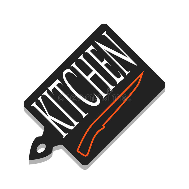 切板和刀子 向量例证