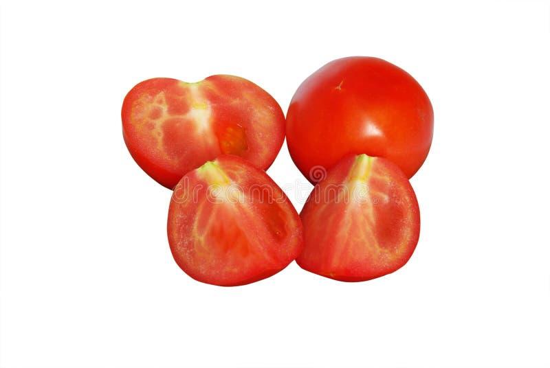 切查出的蕃茄 库存例证