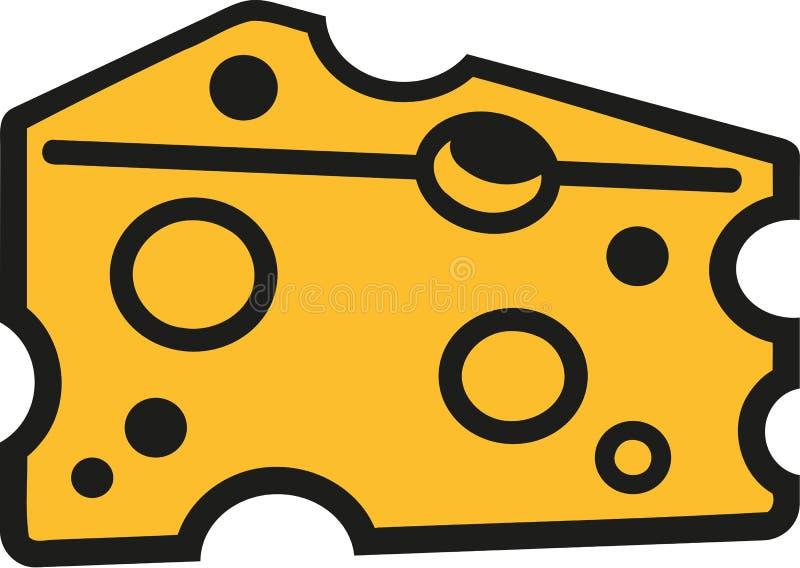 切片乳酪动画片样式 皇族释放例证