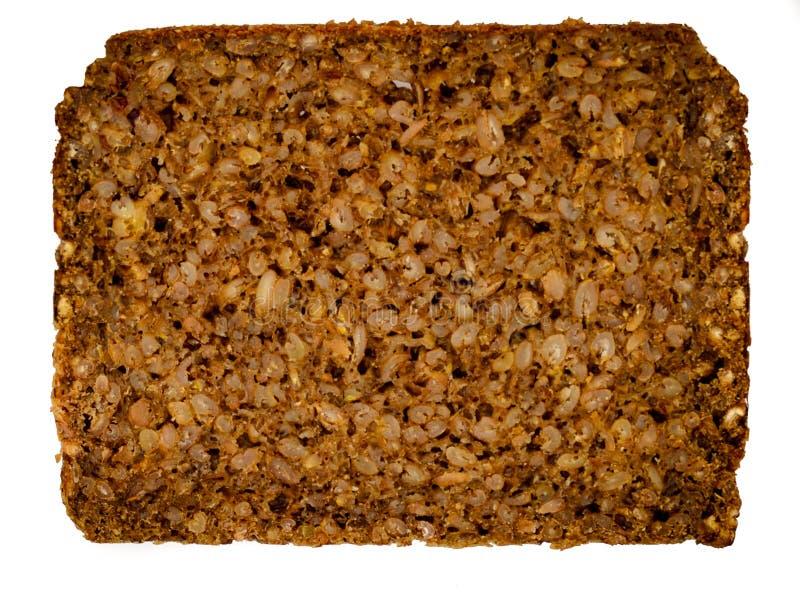 切片德国黑面包- Schwarzbrot 免版税库存图片