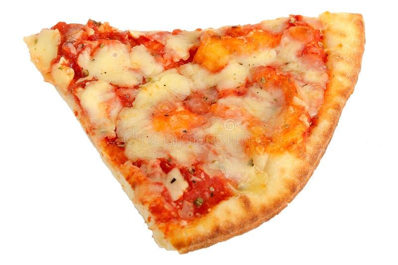 切片意大利样式Margherita薄饼 免版税库存图片
