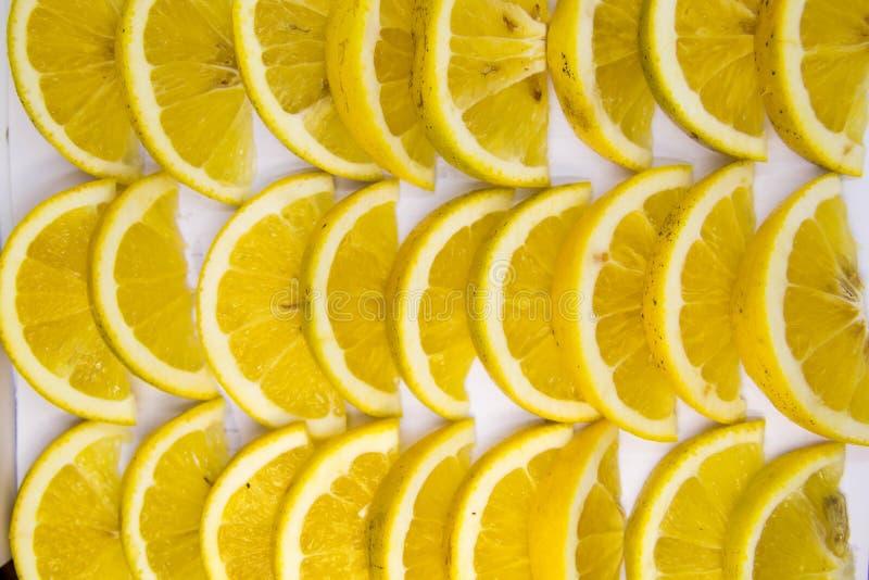 切片柠檬 库存照片