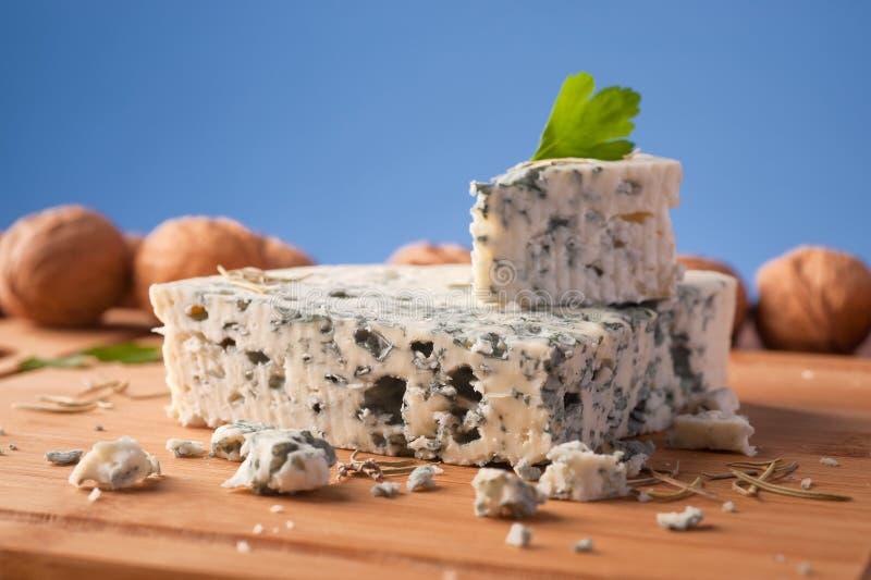 切片法国羊乳干酪乳酪 免版税库存照片