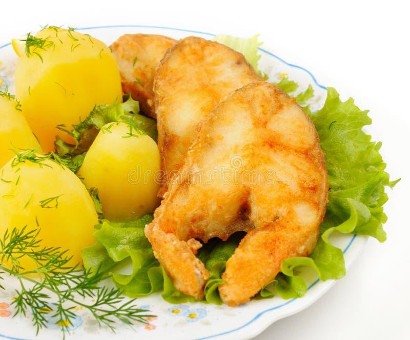 切片烤鲈鱼 免版税库存照片