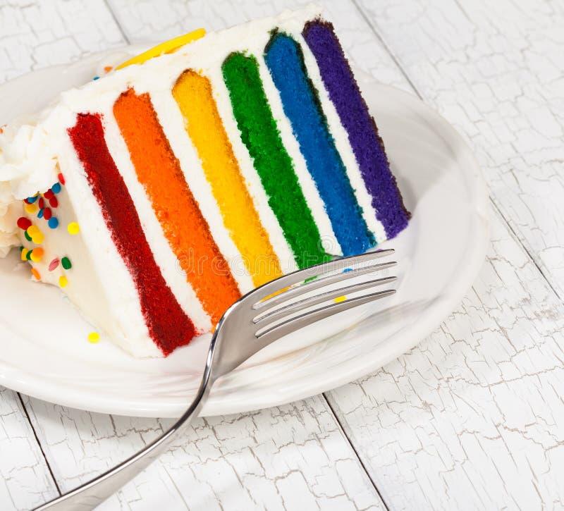 切片生日蛋糕 免版税库存照片