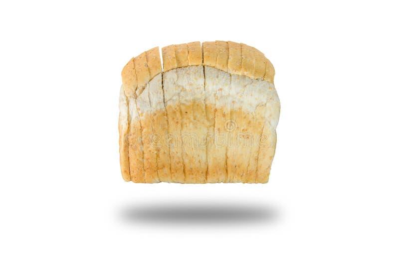 切片背景的全麦面包 免版税库存照片