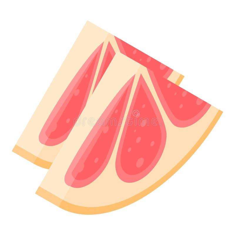 切片葡萄柚象,等量样式 向量例证