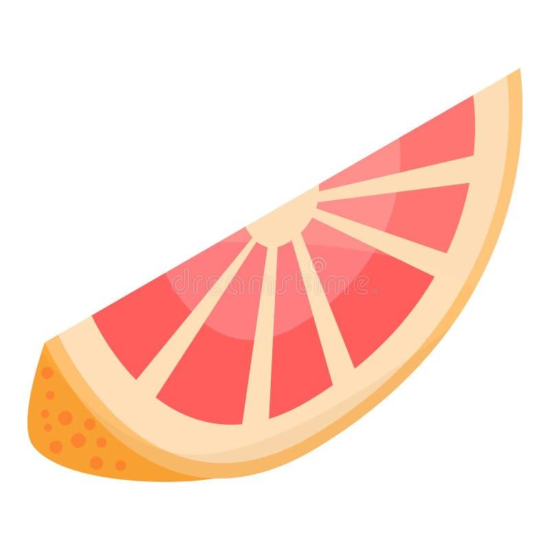 切片葡萄柚象,等量样式 库存例证