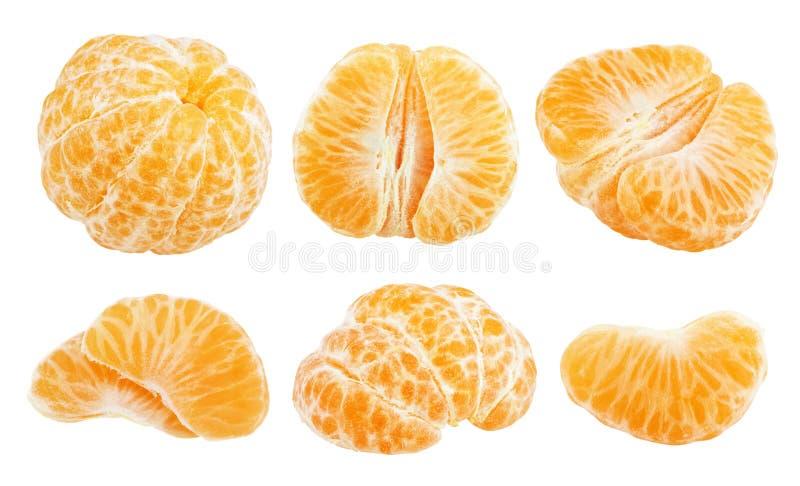 切片蜜桔果子 免版税库存照片