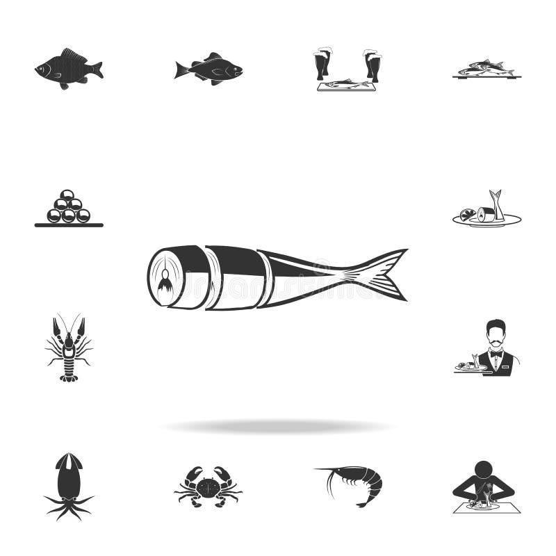 切片鲱鱼象 详细的套鱼例证 优质质量图形设计象 其中一个w的汇集象 皇族释放例证