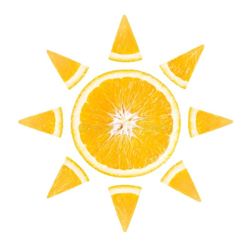 切片以太阳的形式桔子 免版税图库摄影