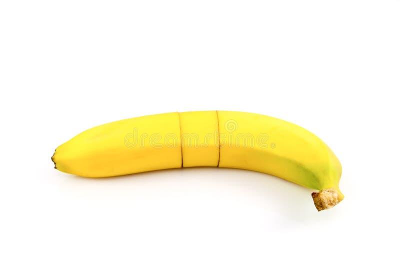 切的和被修补的香蕉 库存图片