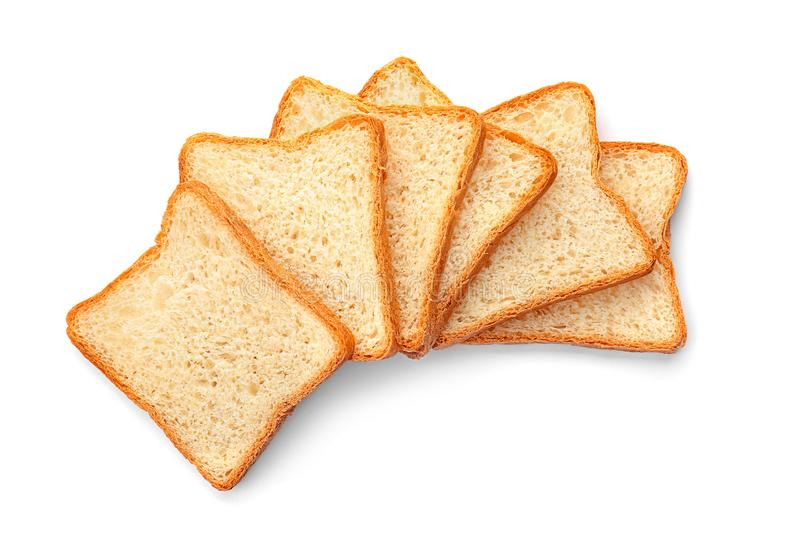 切的多士面包 免版税库存照片