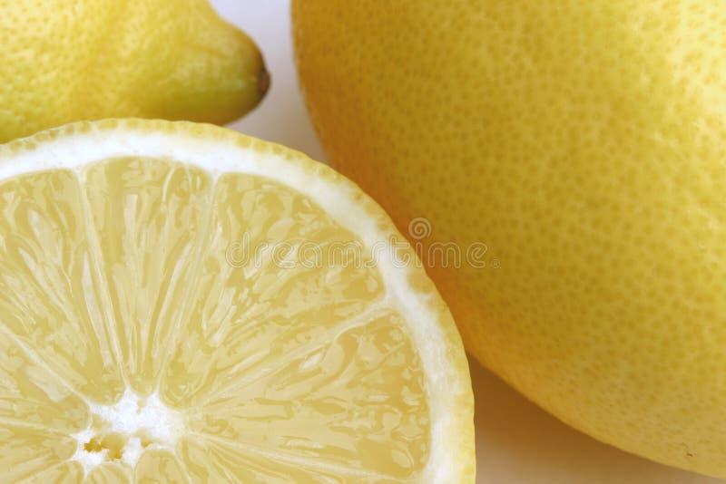 切的柠檬 库存图片