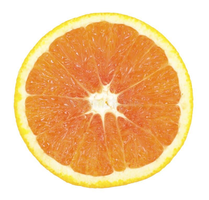 切的桔子 免版税库存图片