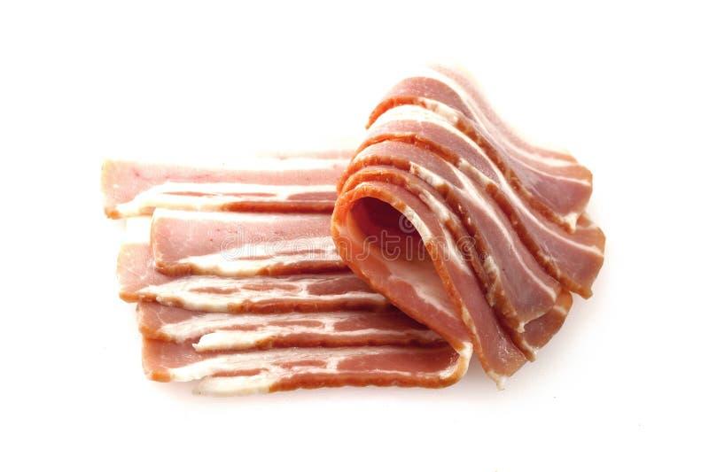 切的烟肉猪肉 免版税库存图片