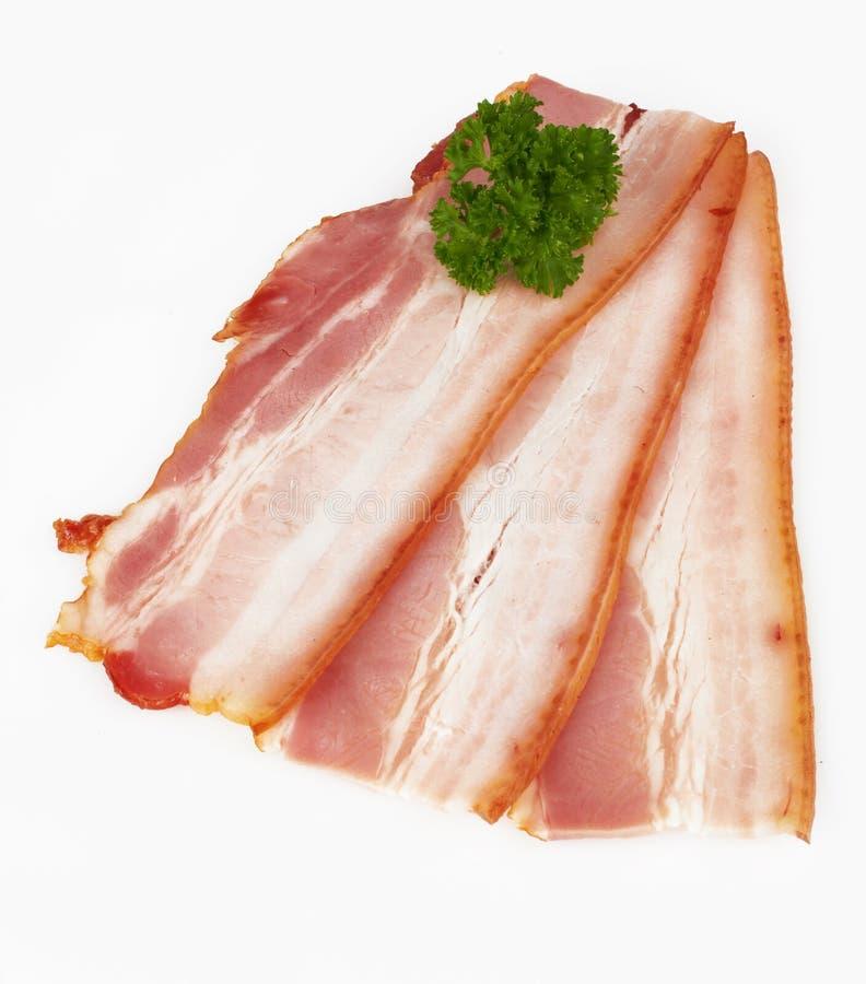 切的烟肉猪肉 库存照片