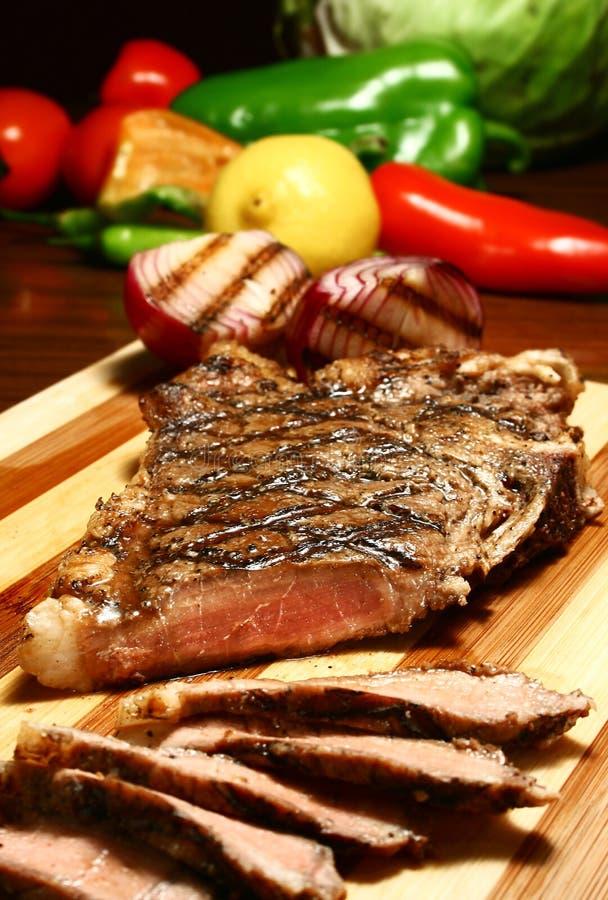 切的牛肉 免版税库存照片
