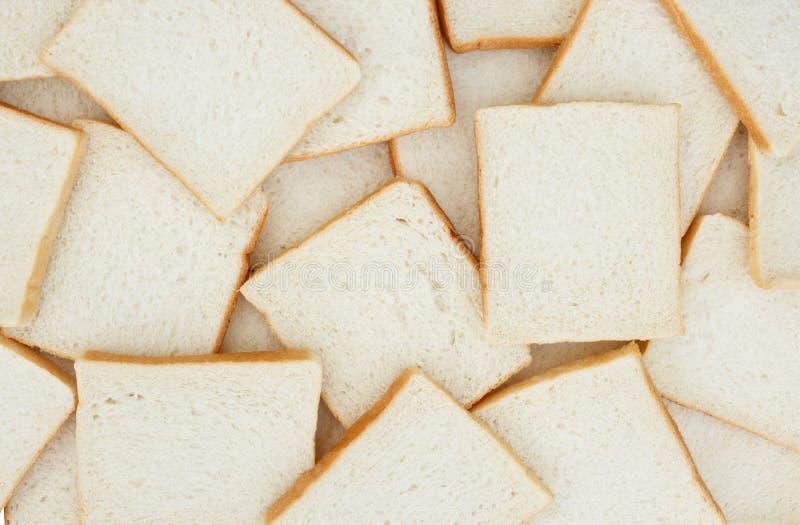 切的白面包 免版税库存照片