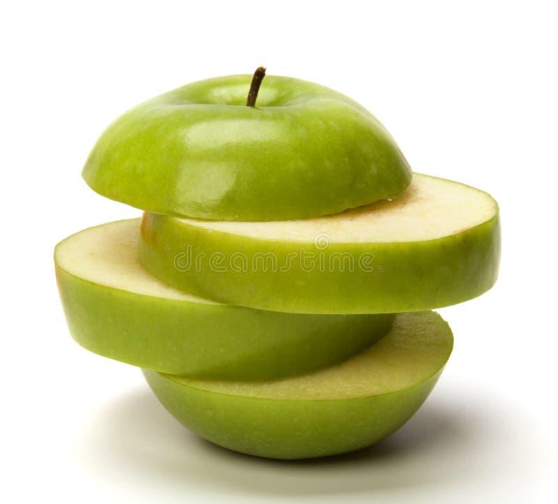 切的苹果 库存图片