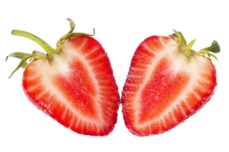 切的草莓 图库摄影