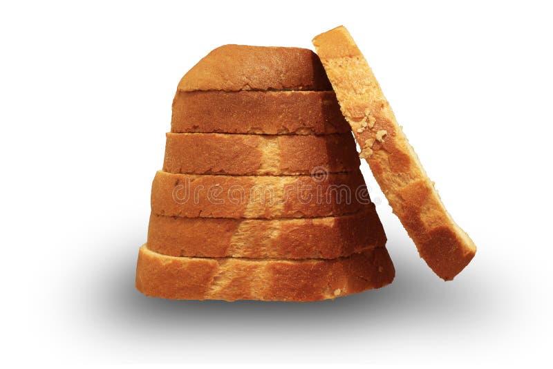 切的面包片断装饰安排了 免版税库存图片