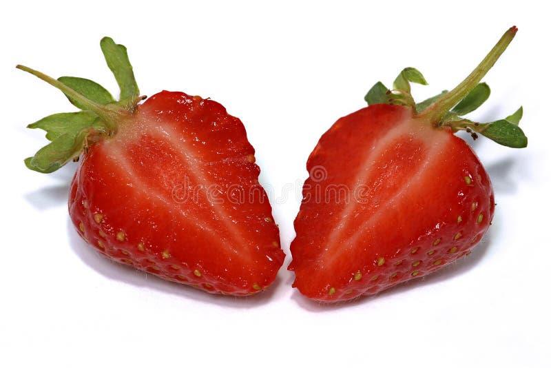 切草莓 免版税库存图片