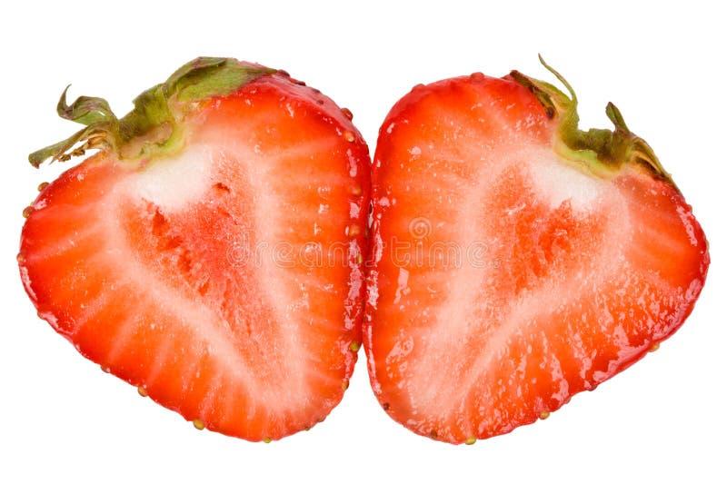 切草莓 免版税库存照片