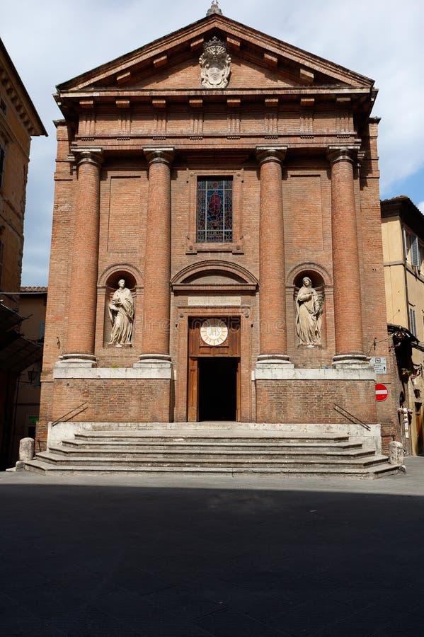 切萨圣克里斯托福罗圣克里斯托弗教会,锡耶纳,托斯卡纳,意大利 免版税库存照片