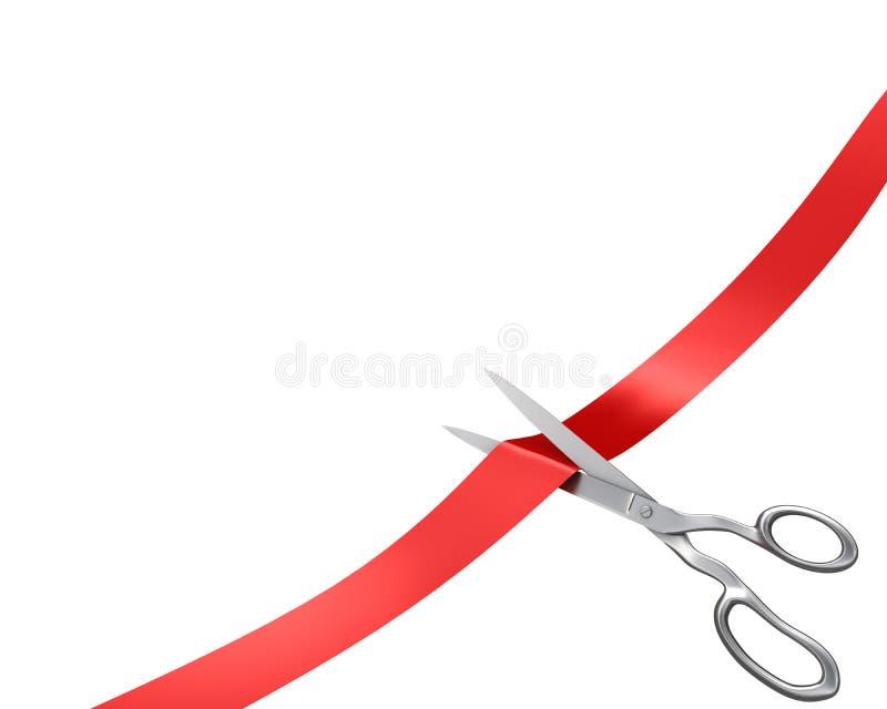 切角丝带剪版本 向量例证