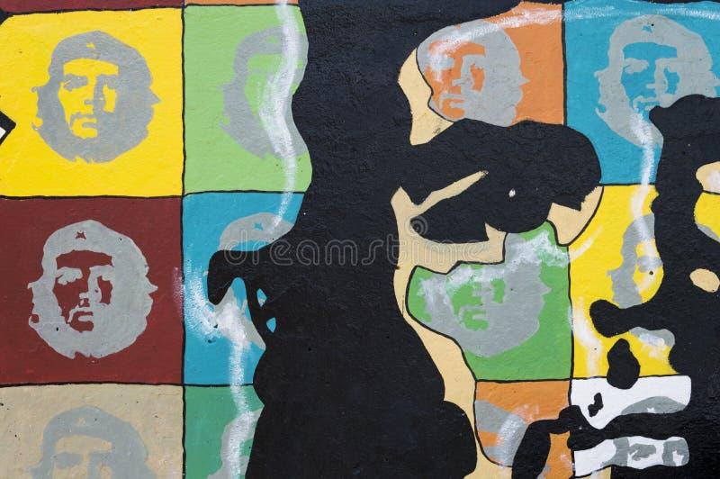 切・格瓦拉壁画 免版税库存图片