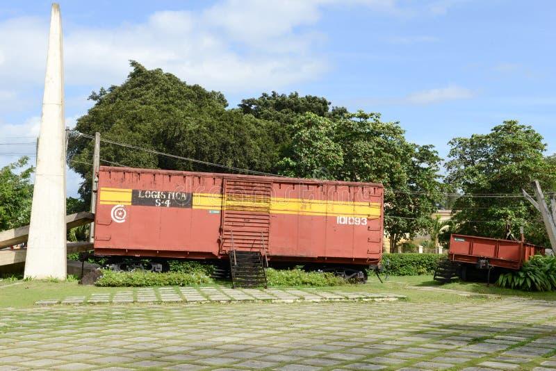 切・格瓦拉的力量夺取的火车纪念品 库存照片