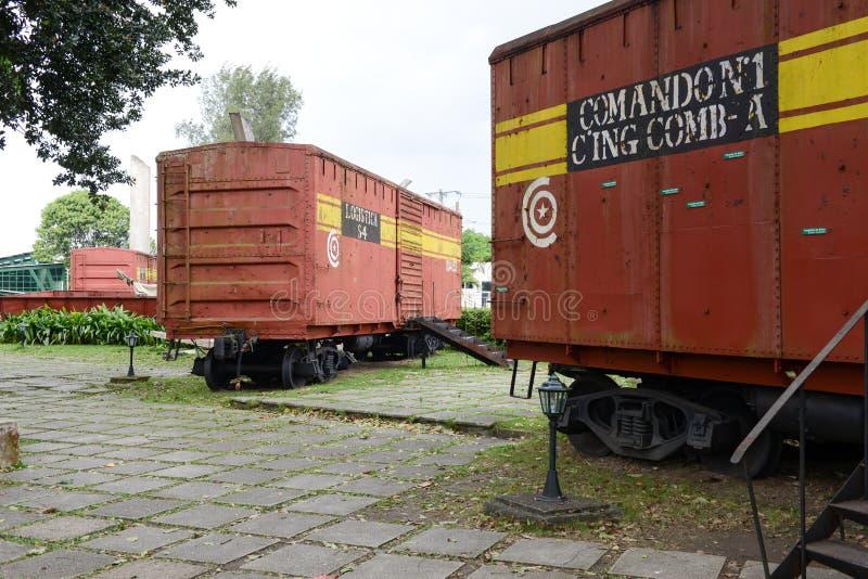 切・格瓦拉的力量夺取的火车纪念品 库存图片