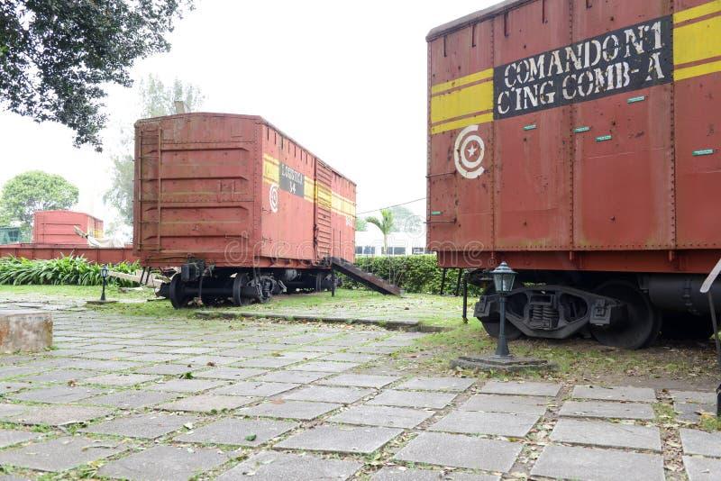 切・格瓦拉的力量夺取的火车纪念品 免版税库存照片