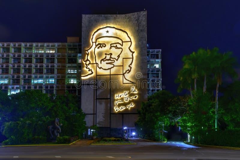切・格瓦拉画象-哈瓦那,古巴 图库摄影