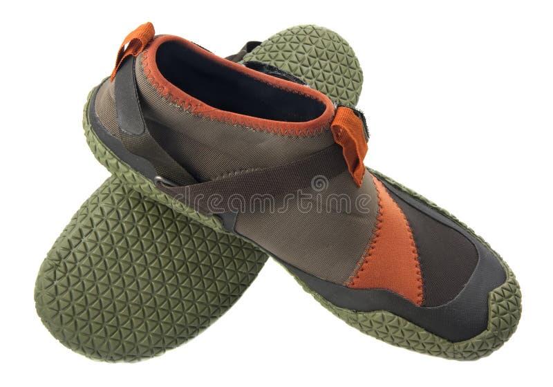 划皮船的鞋子水 免版税库存照片