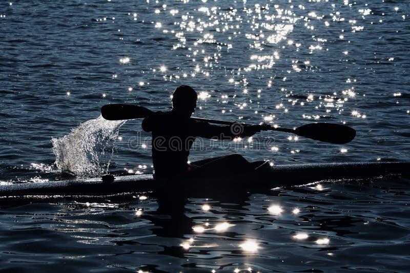 划皮船 免版税图库摄影