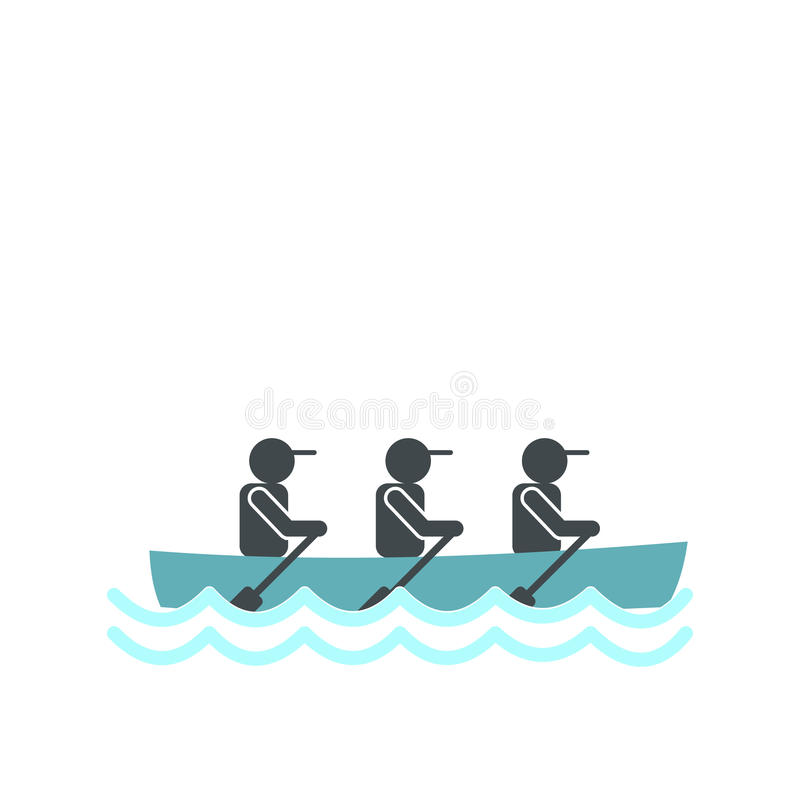 划船种族象 向量例证