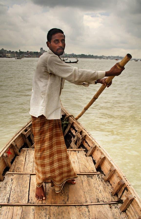 划船者 免版税库存照片