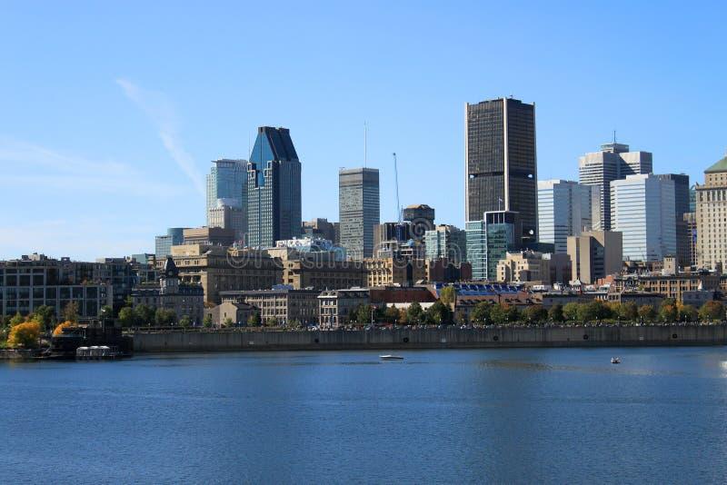 划船街市蒙特利尔,魁北克,加拿大 库存照片
