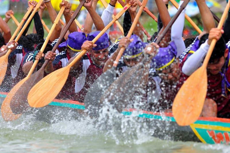划船队种族 图库摄影