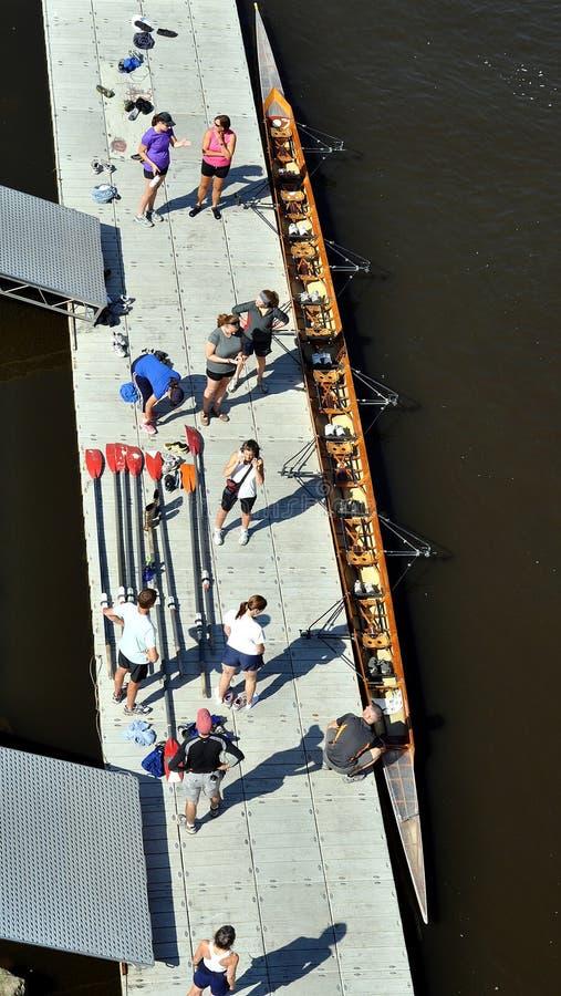 划船 库存照片