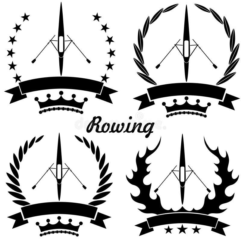 划船 向量例证