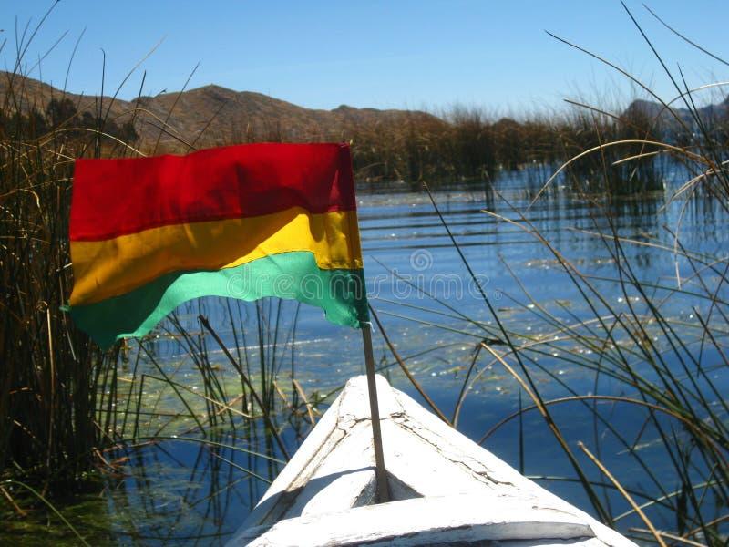划船titicaca 库存图片