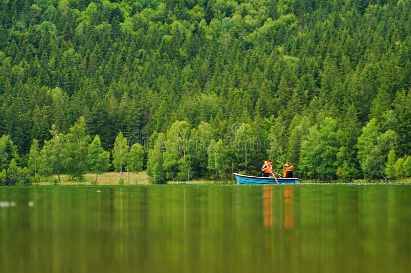 划艇在Saint Anne湖2 图库摄影