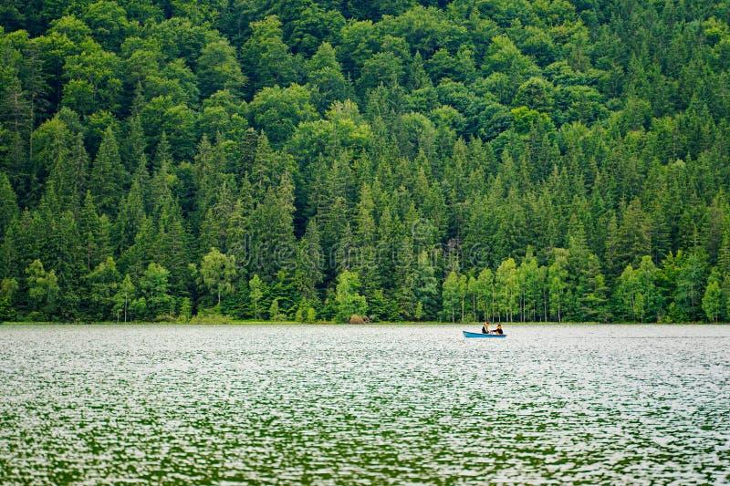 划艇在Saint Anne湖3 库存照片