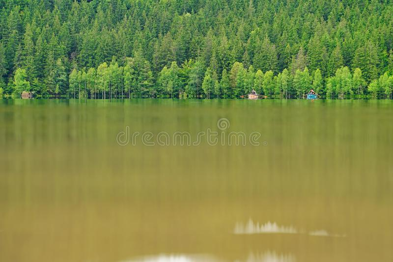 划艇在Saint Anne湖2 库存照片